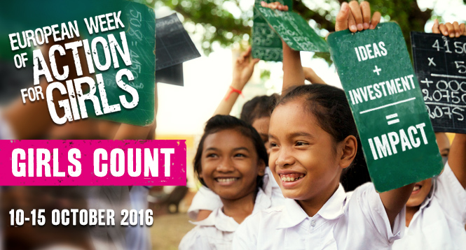 [Image: Girls Count: ideas + investment = impact]