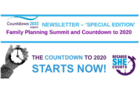 "[Image: Countdown 2030 Europe: ""Special Family Planning Summit Newsletter""]"