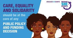 BecauseSheCounts 2020 campaign - sexual and reproductive health and rights in development aid